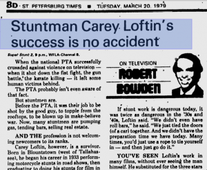 1979 paper article about LOFTIN