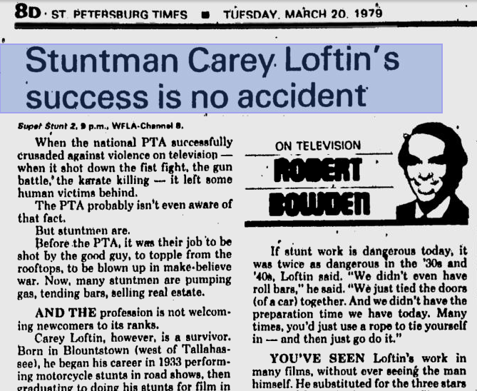 1979 newspaper article on Lofyin