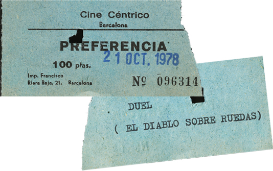 Duel cinema tickets