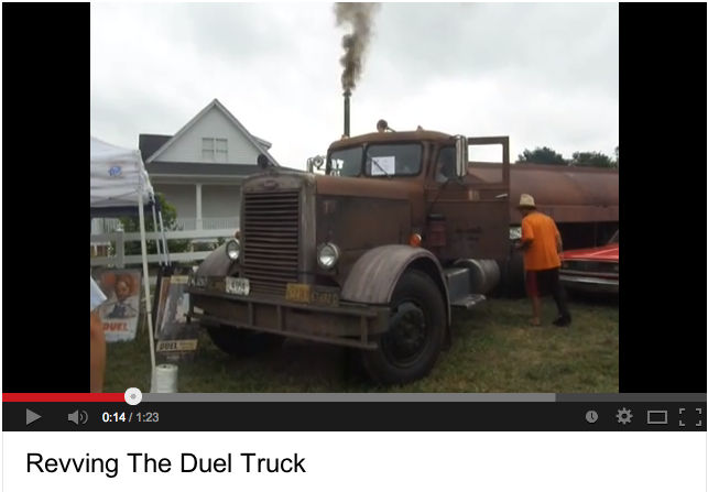 Brad Wike revving the Duel truck