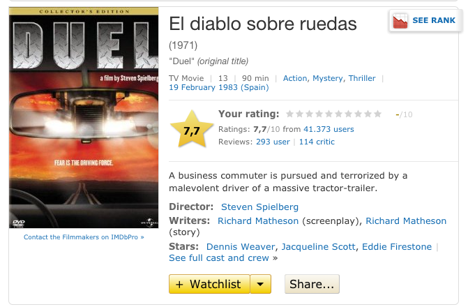 Duel IMDB Page