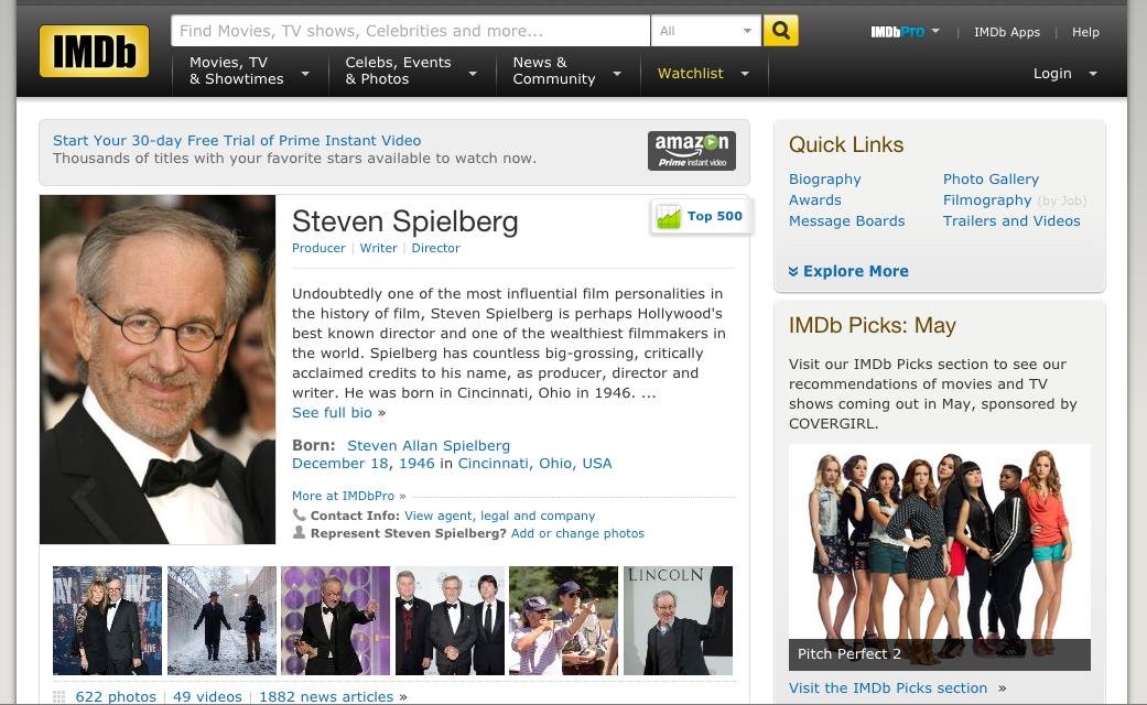 STEVEN SPIELBERG Director (IMDB page)