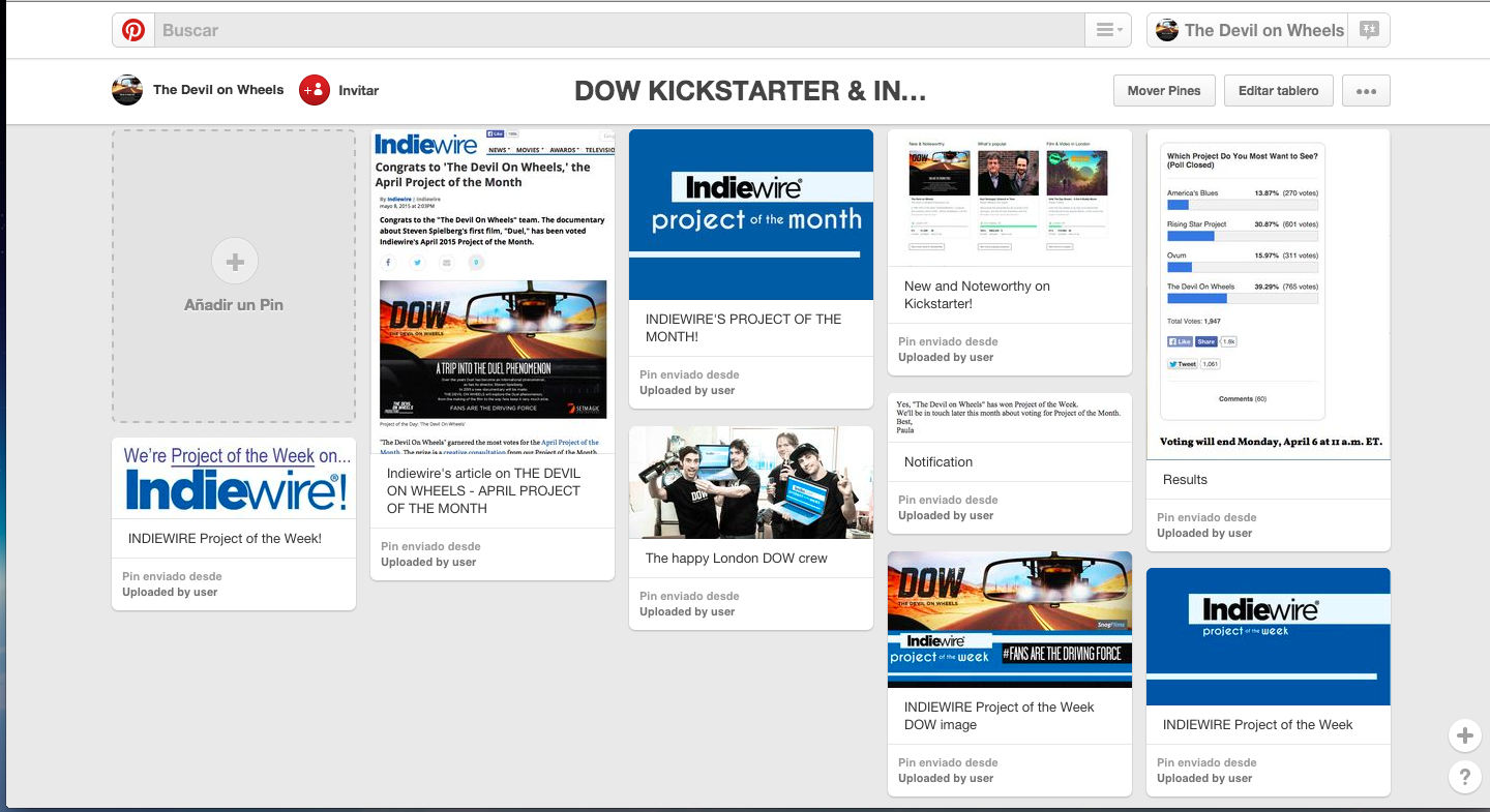 DOW Indiewire and Kickstarter images