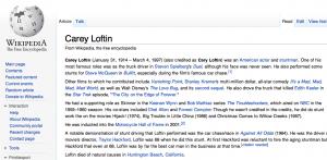 CAREY LOFTIN Wikipedia