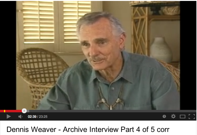 Dennis Weaver talks Duel (1:28 to 6:29)