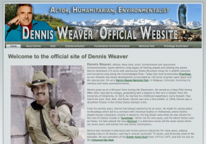 Dennis Weaver official website