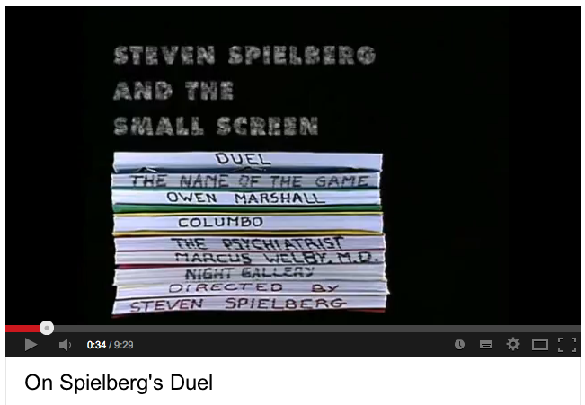 Spielberg's beginnings on television (documentary)