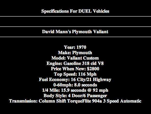 Duel truck and car tech specifications-1