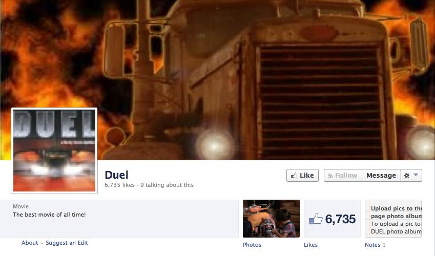 Facebook Duel page
