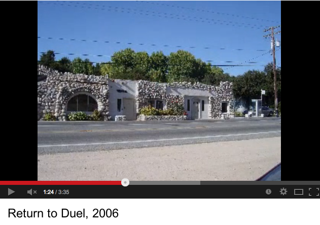 Duel locations visited by film fans (Youtube)