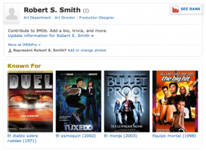 ROBERT S. Smith Art Director (IMDB page)