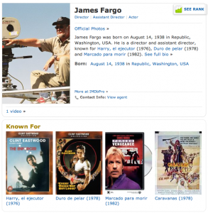 JAMES FARGO 1st Assistant Director (IMDB page)