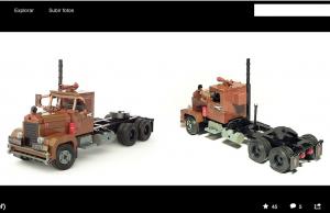 Lego Duel truck model