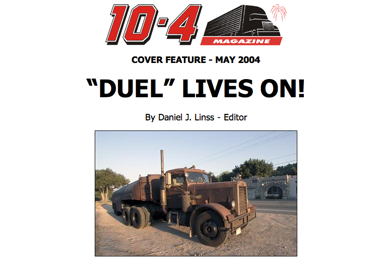 Neil rebuilds surviving Duel truck