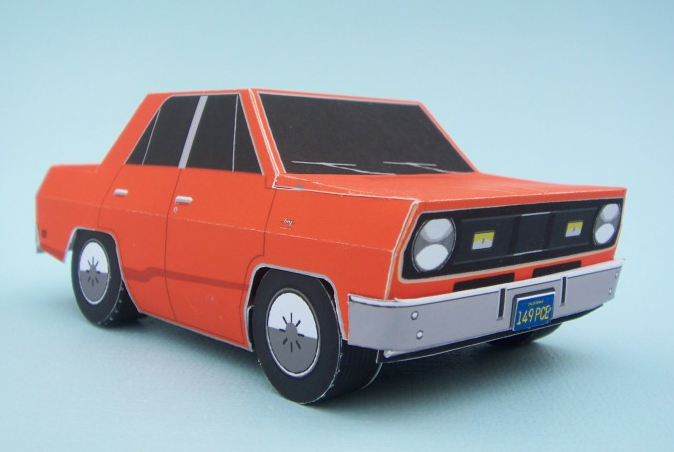 Papercraft Plymouth Valiant and Duel truck