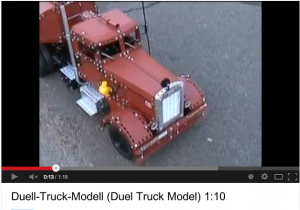 Radio controlled metal Duel truck