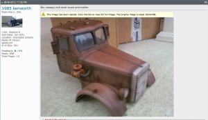 Radio controlled metal Duel truck model