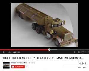 Robs Classic Duel truck model 1_43 (and history)(Youtube)
