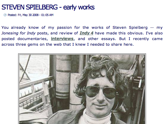 Spielberg's early works
