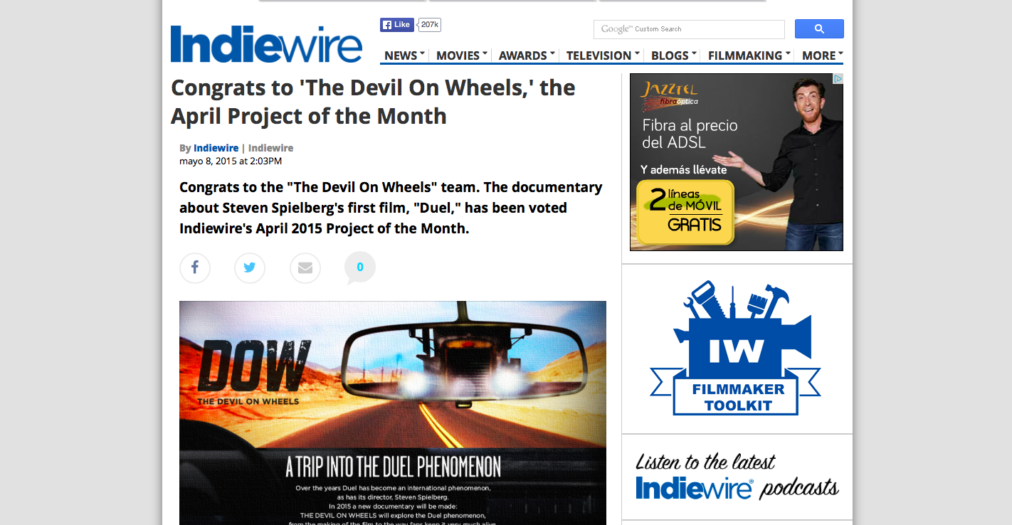 INDIEWIRE Project of the Month