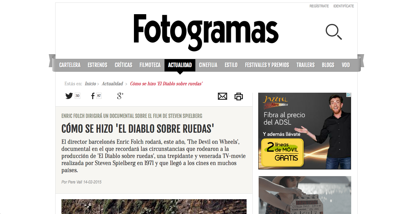 FOTOGRAMAS on DOW (Spain)