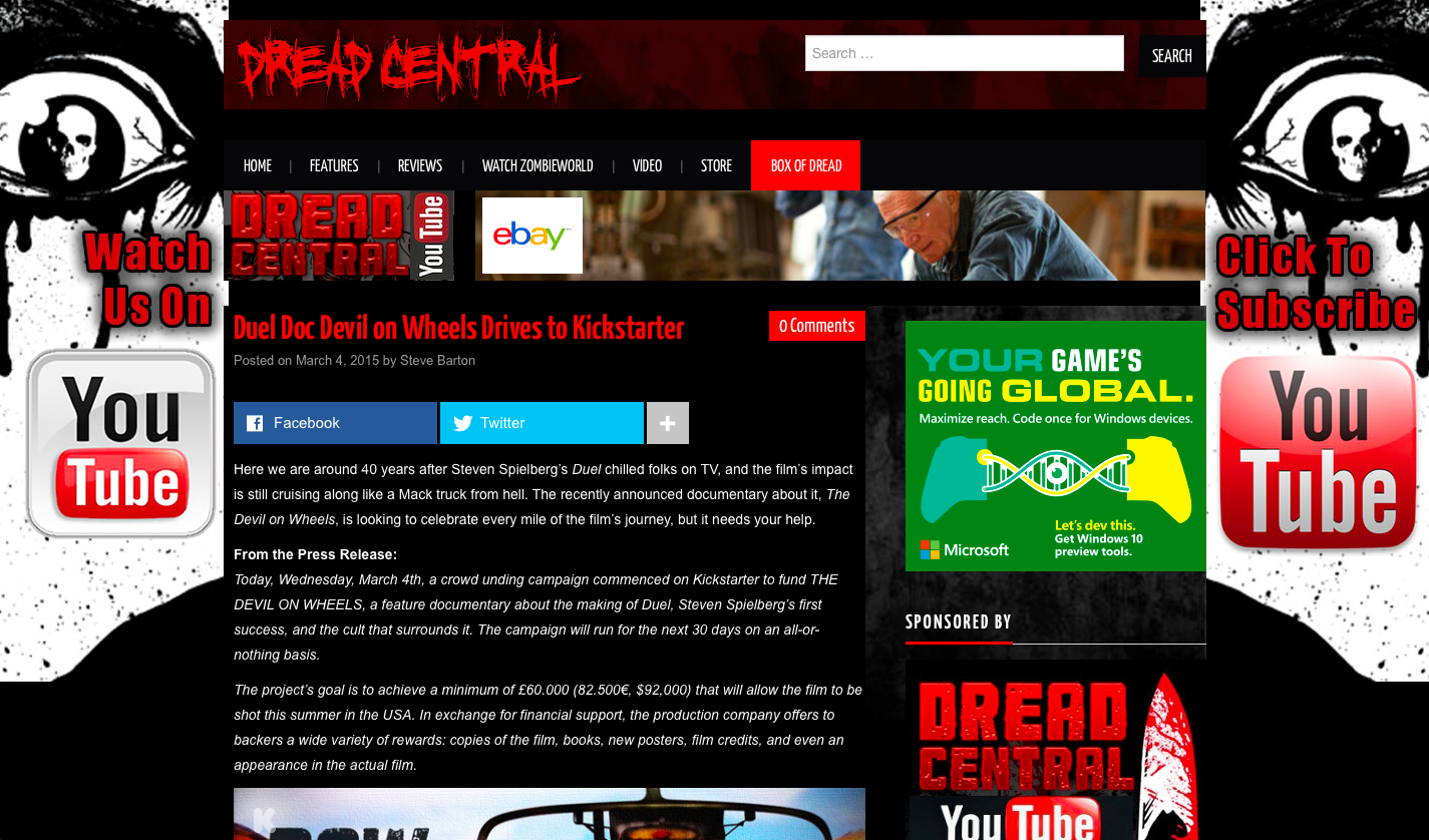 DREAD CENTRAL on DOW